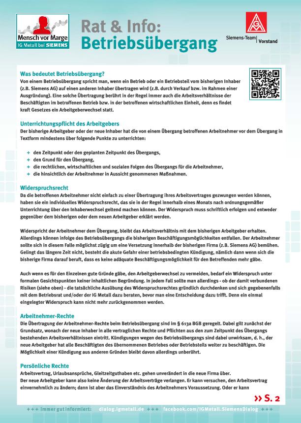 Siemens Mobility Betriebsräte Und Ig Metall Beantworten Fragen